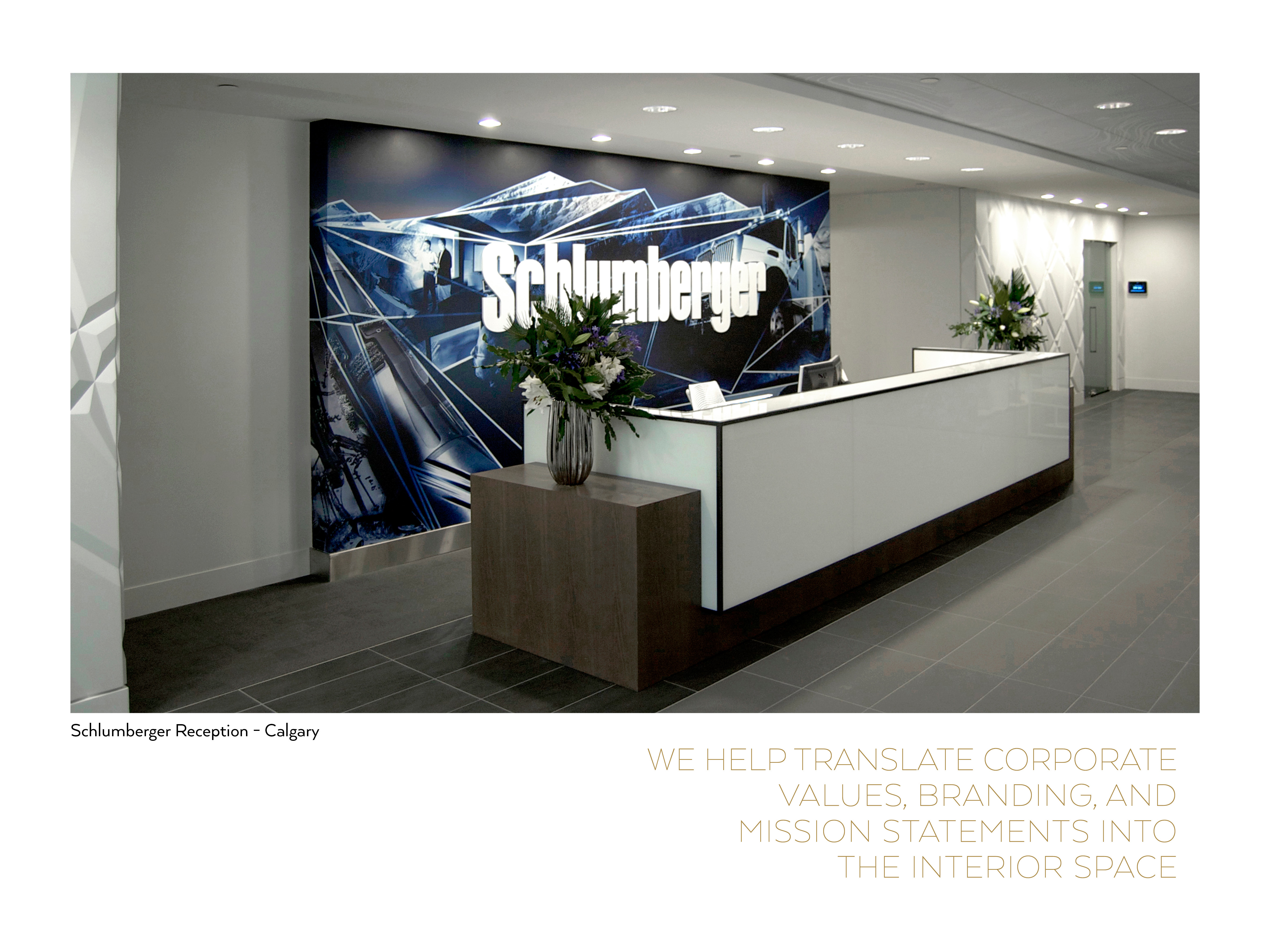 Schlumberger Reception Graphics Graphic Design Vancouver