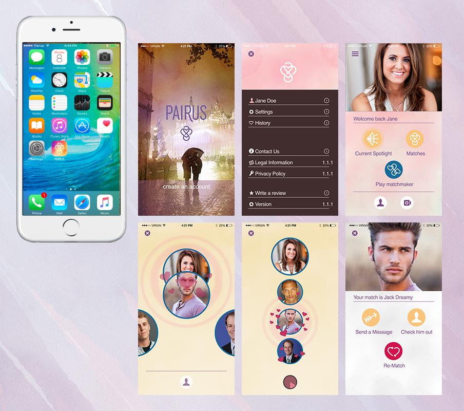 Pairus App Screens