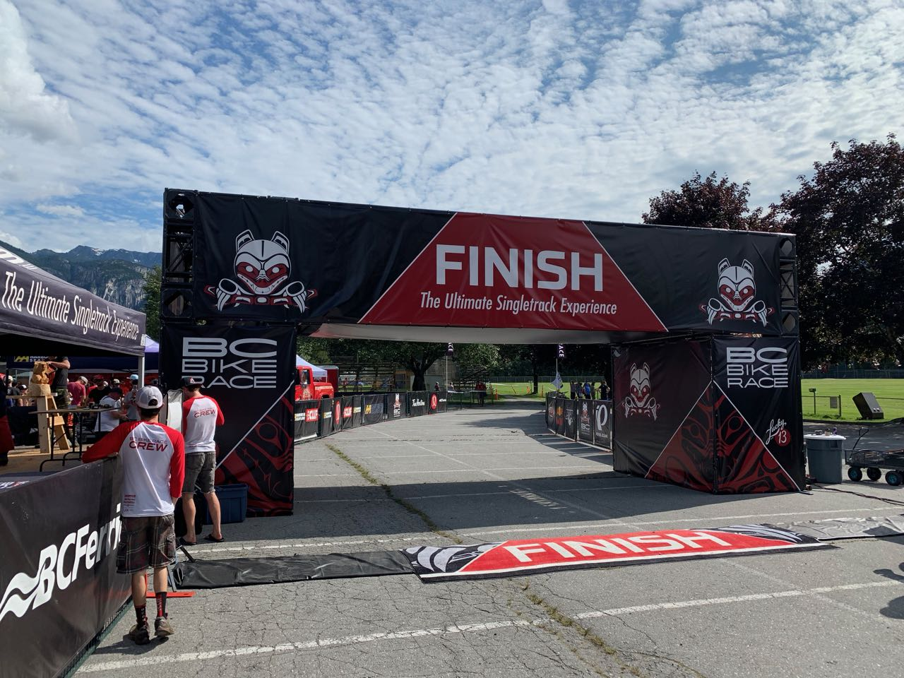 Squamish BC Bike Race finish line